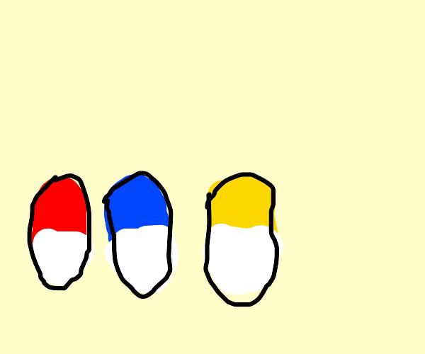 redpill, bluepill, and yellowpill????