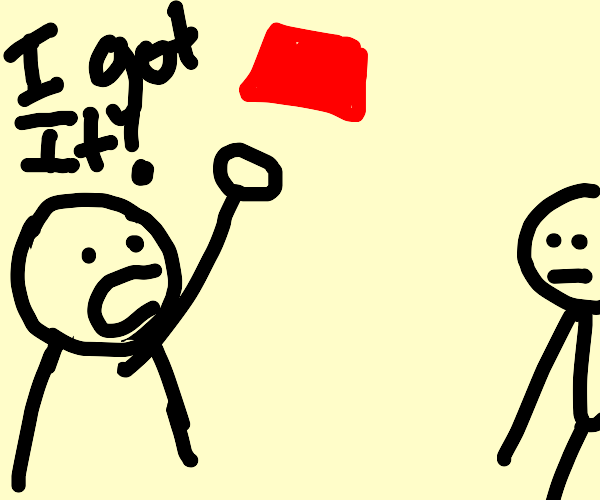 playing catch with a red box