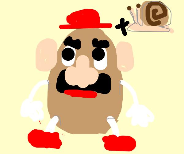 Mr. Potato Head crossed with Snail