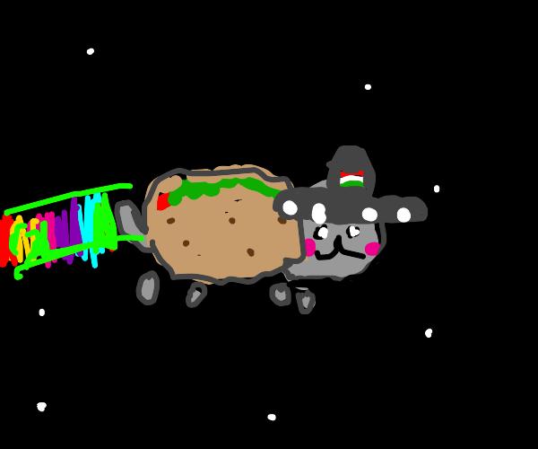 nyan cat, but a taco