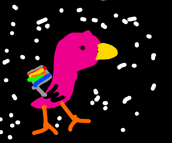 gay duck in space