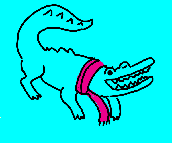 Fabulous blue crocodile