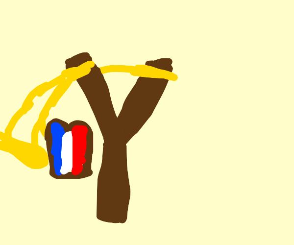 CAUTION! slingshotting french toast!