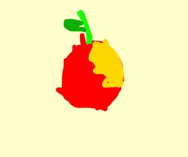 Someone bit the Apple