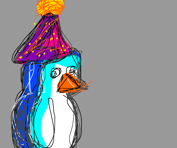 blue penguin birthday party