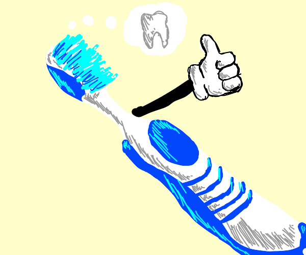 tooth brush with hopes and dreams