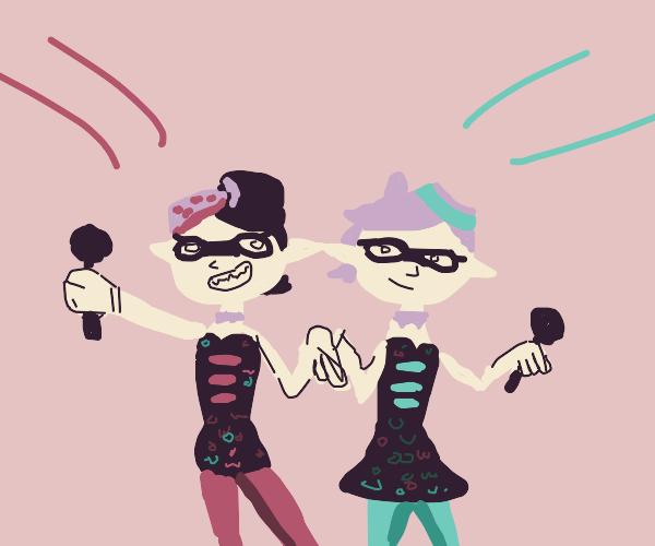 Squid sisters (splatoon)