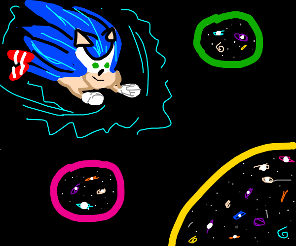 Sonic travels the multiverse