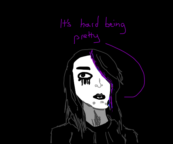 Emo girl says its hard being pretty