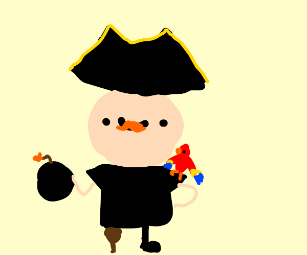 Pirate with bomb