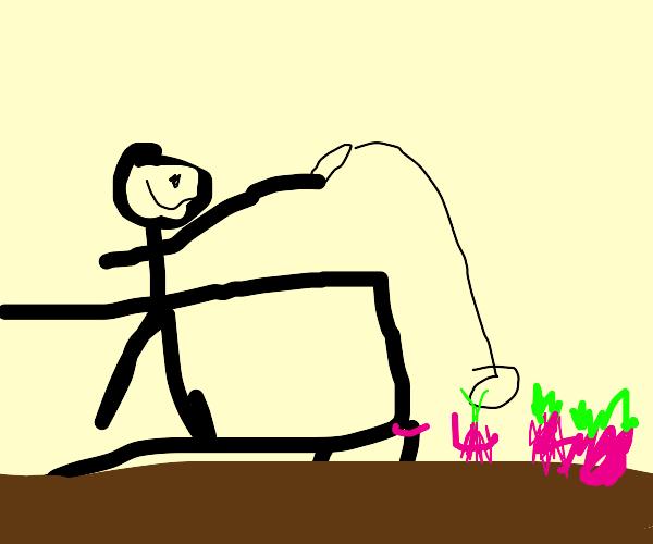 Fishing for a Radish