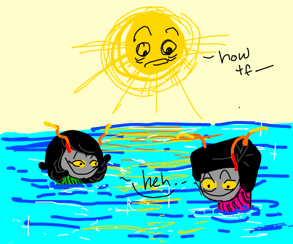 How'd Homestuck trolls get in the lake?