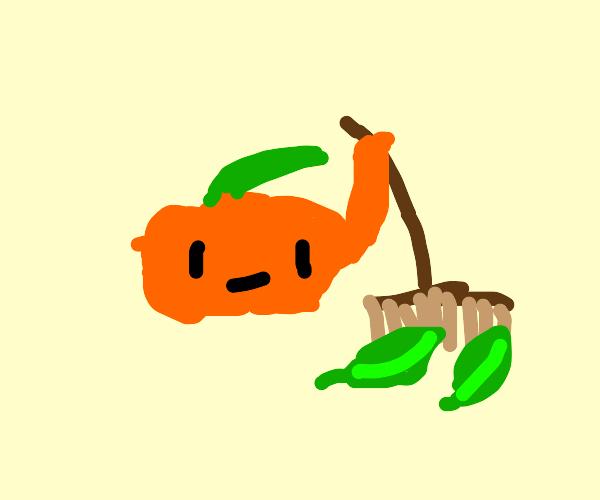 Pumpkin sweeping