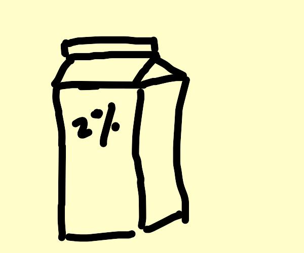2 percent milk