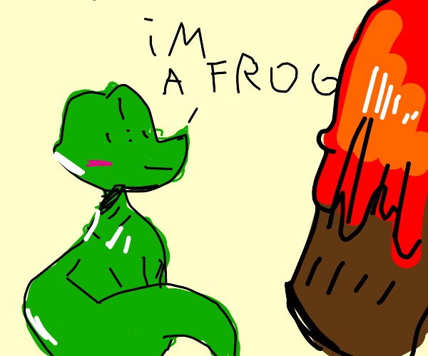 Alligator discovering a Volcano