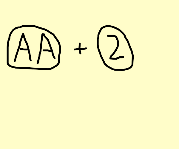 Two A's and the number 2