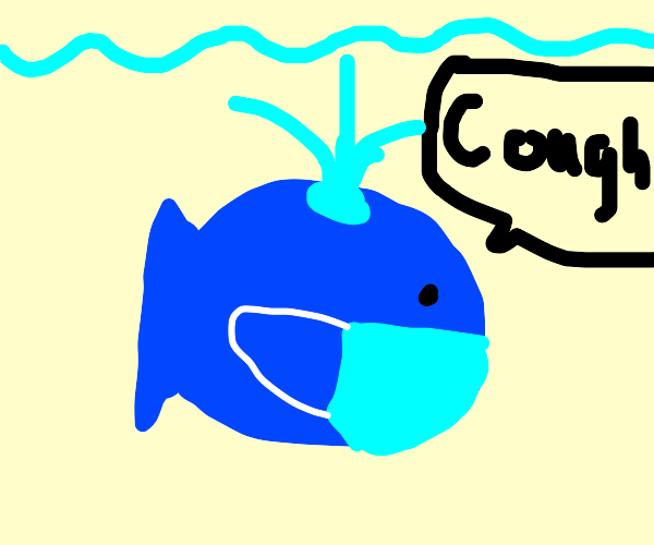 Whale is sick