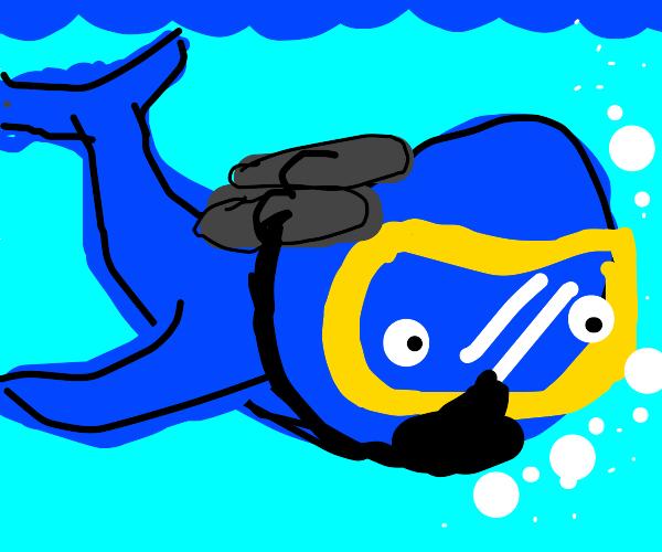 scuba whale