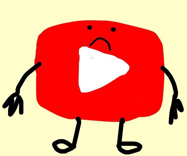 youtube logo just ain't feelin it today