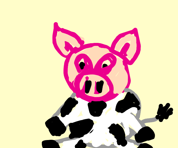 look at this pig-cow hybrid!
