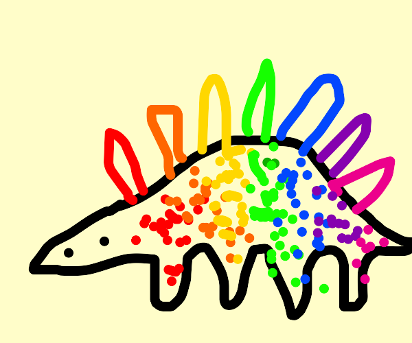 a colourful spinosaurus