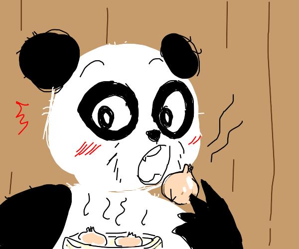 Panda eating a Dumpling