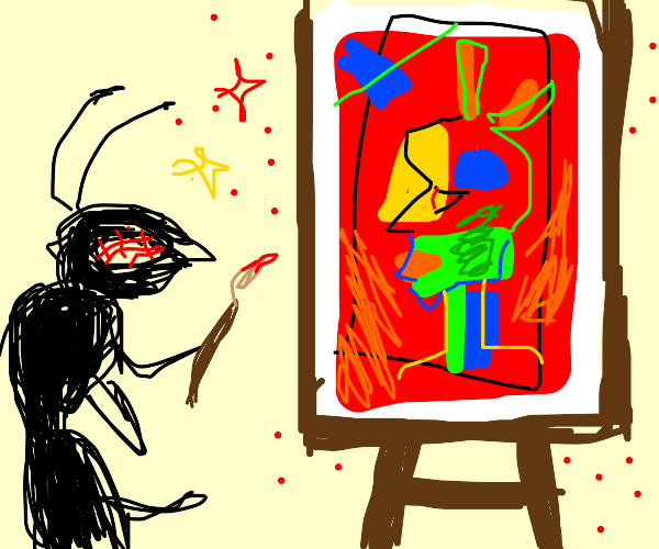 Ant Picasso painting