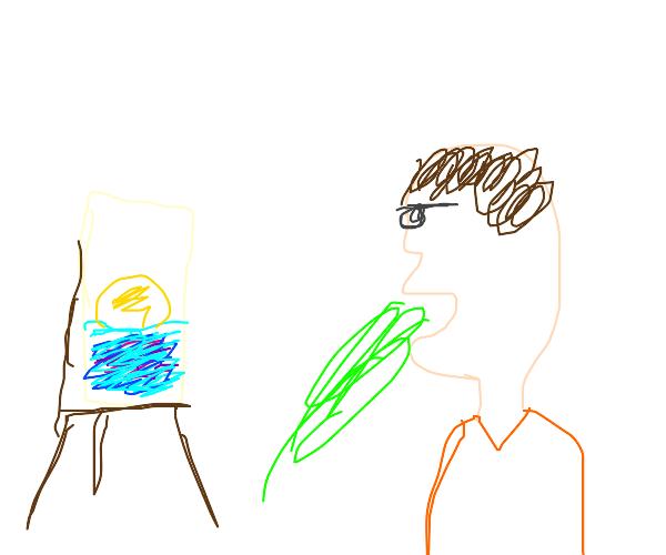 Artist Vomiting