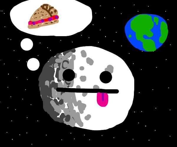 moon thinks of pie