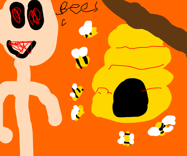 Aww look, bees!