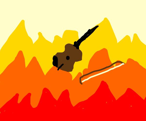 Violin in a Fire