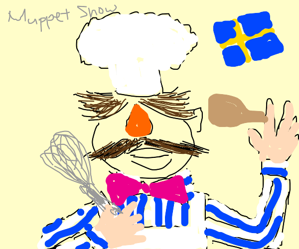 the swedish chef muppet but realistic