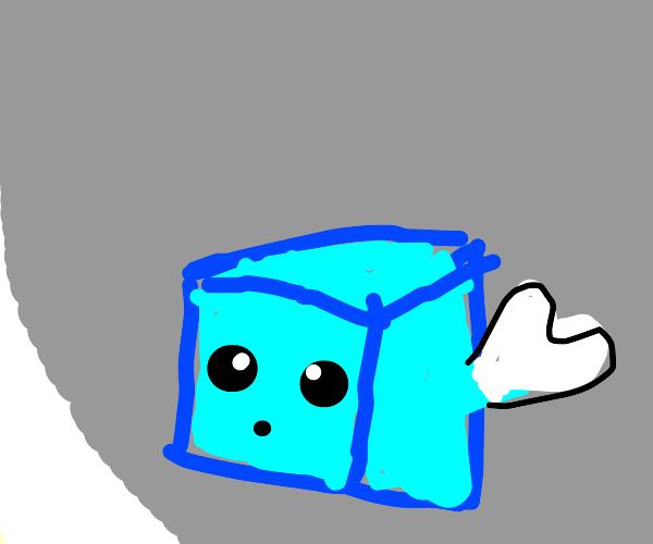 Icecube wearing Gloves