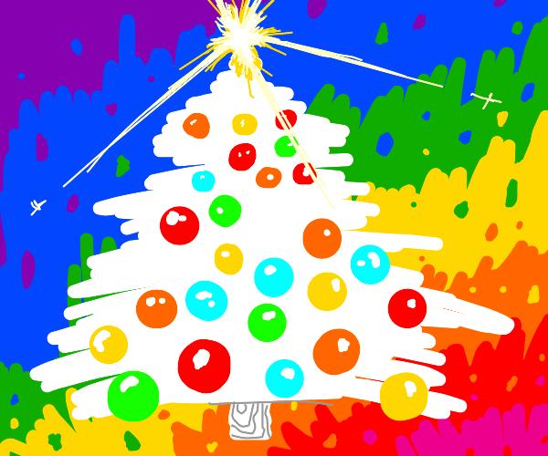 A gay christmas tree