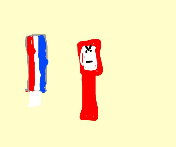 Angry Toothbrush