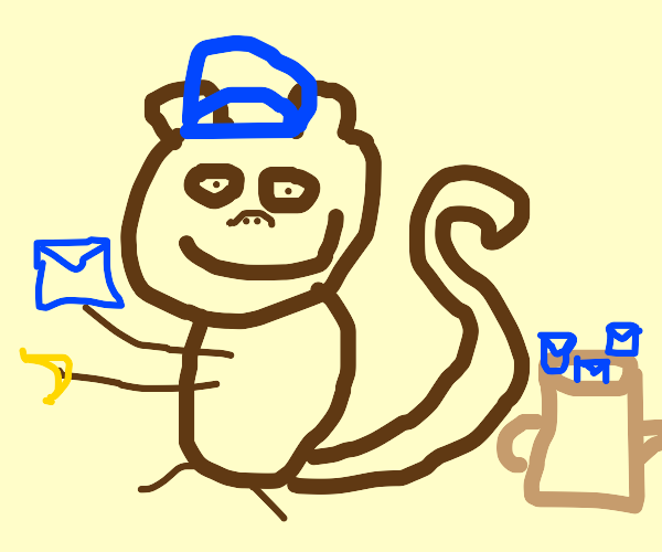 Monkey mailman