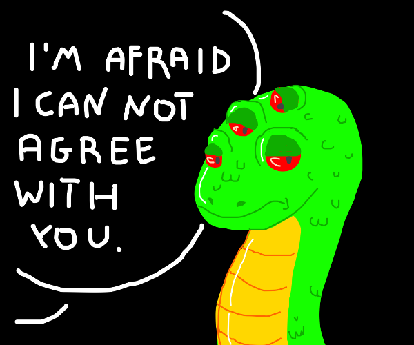 do not agree to the four eyed snake