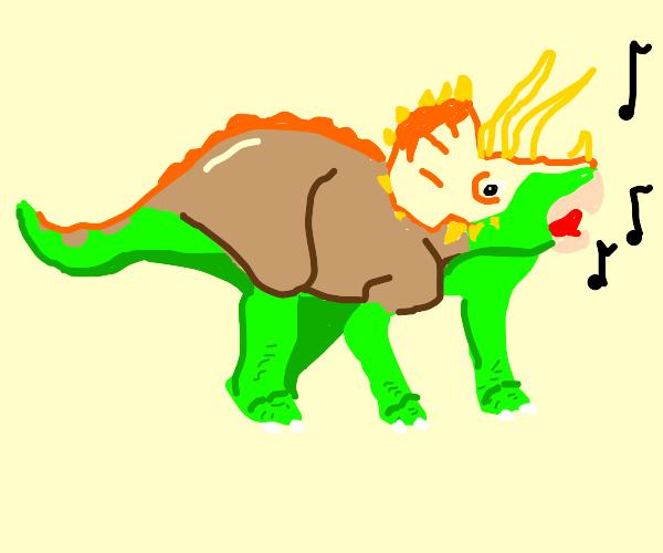 Triceratops singing