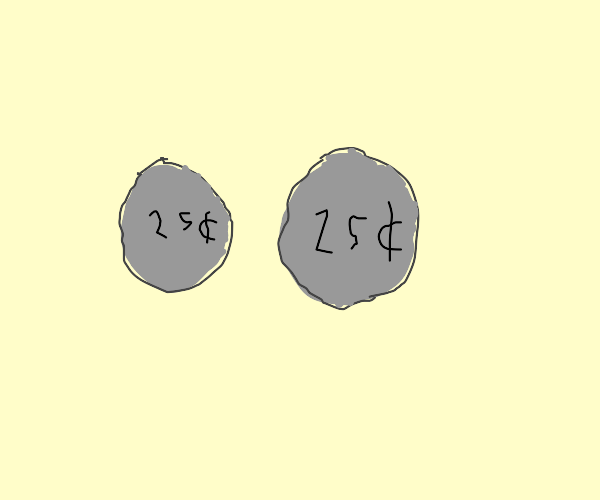 a couple of 25 cent coins