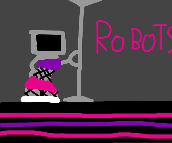 Best anniversary gift - robot strip club