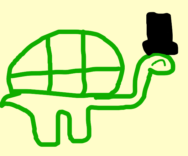 Turtle with a tophat