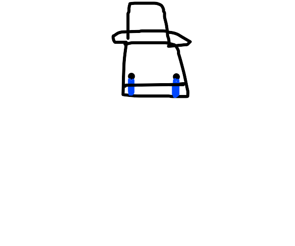 Sad top hat person
