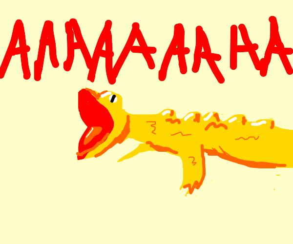 screaming yellow lizard