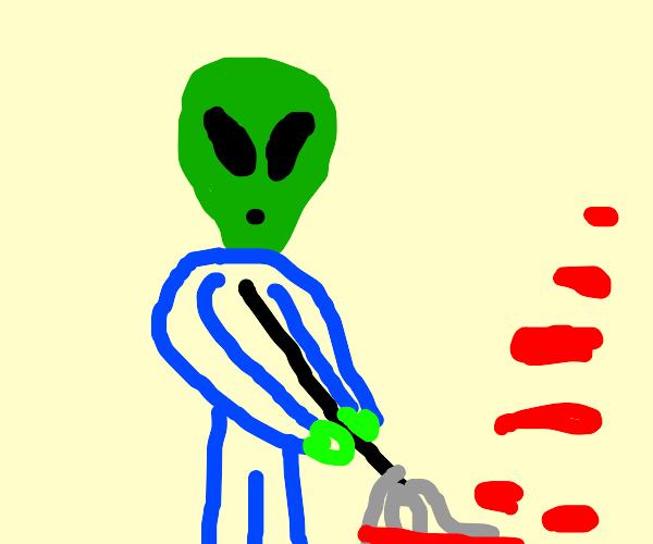 alien blood janitor