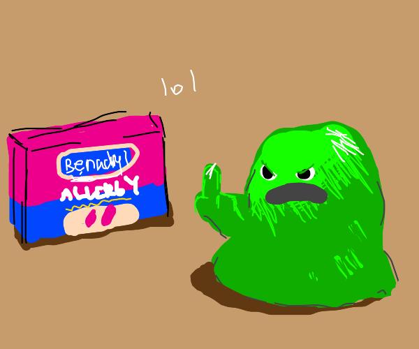mucinex mucus monster flipping off benadryl