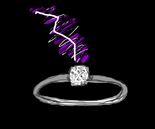 Lightning engagement ring