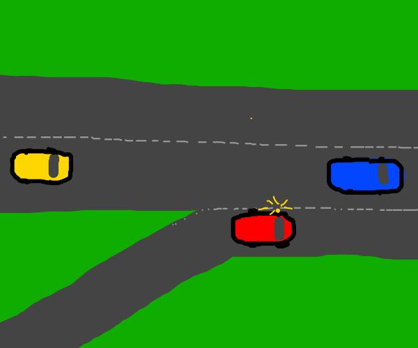 Merging into main road