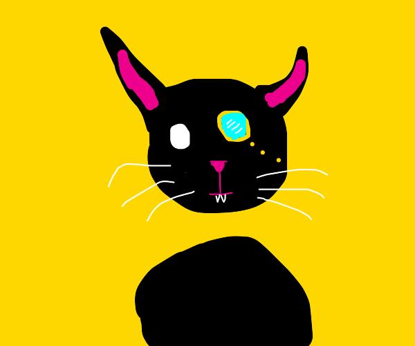 A doodle of a fancy cat
