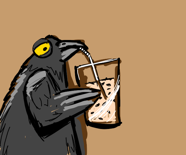 Big Bird drinks a bird seed milkshake