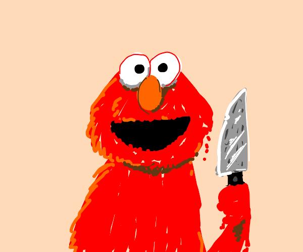 Oh no Elmo has a knife